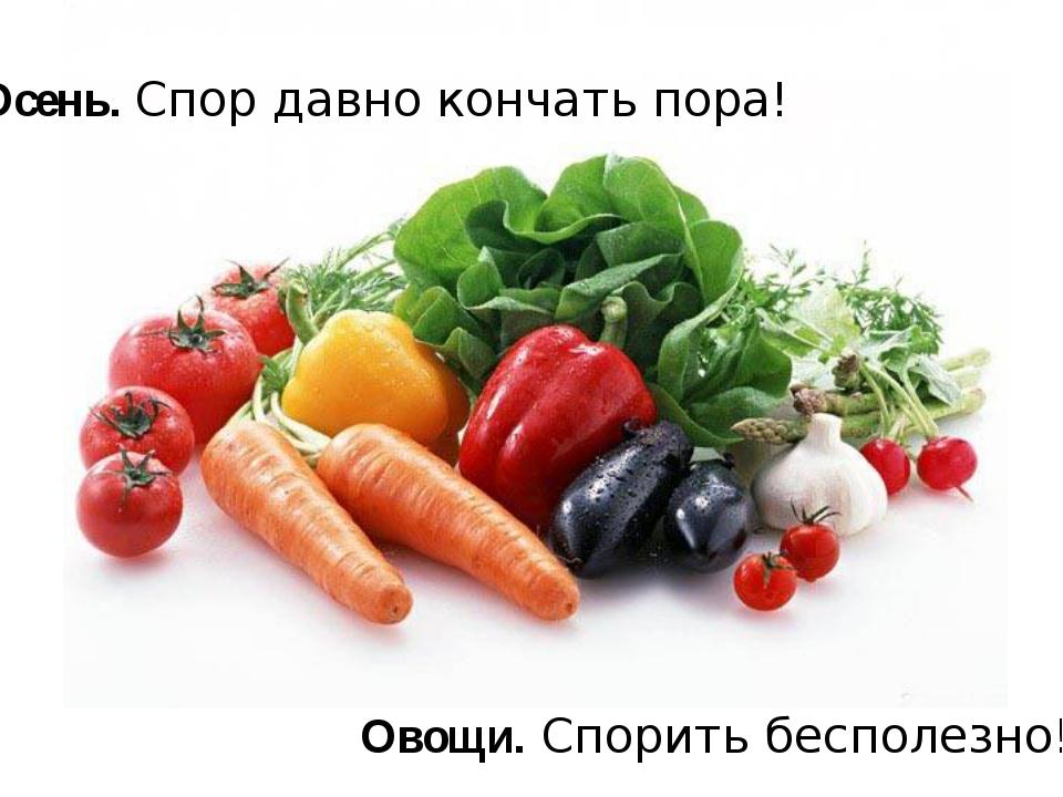 Осень. Спор давно кончать пора! Овощи. Спорить бесполезно!