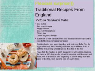 Pleasant surprise!)) Traditional Recipes From England Victoria Sandwich Cake