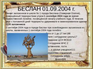 БЕСЛАН 01.09.2004 г. Захватзаложниковв школе №1 городаБеслана (Северная О