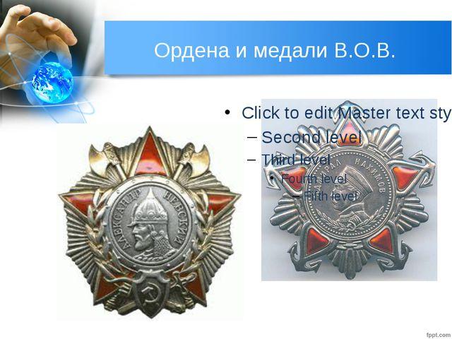 Ордена и медали В.О.В. В 1942 г. для награждения командиров были учреждены пе...