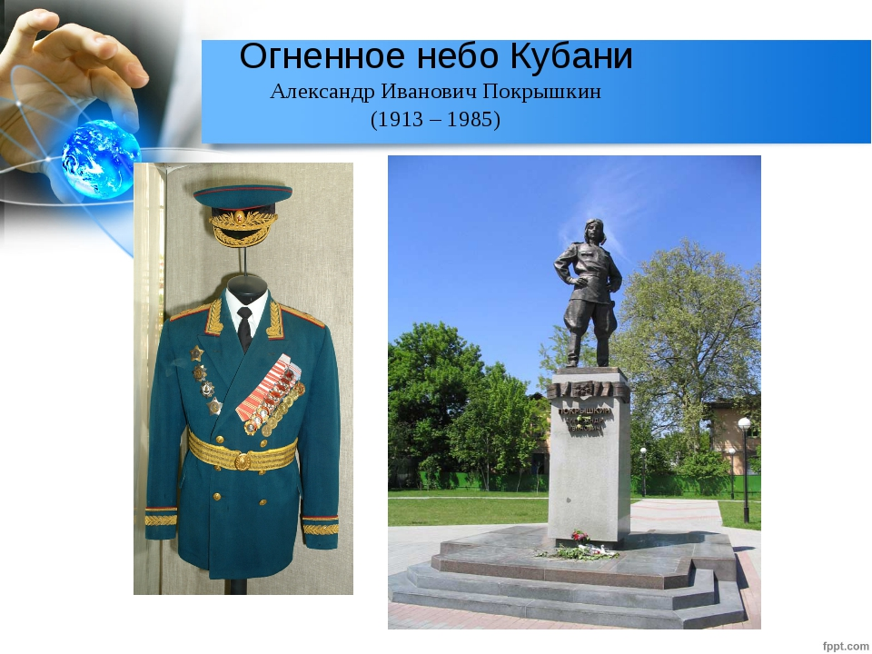 Огненное небо Кубани Александр Иванович Покрышкин (1913 – 1985) Легендарный л...
