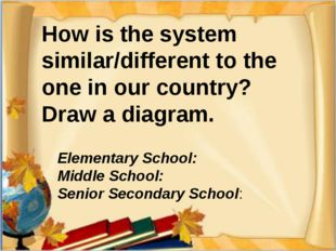 How is the system similar/different to the one in our country? Draw a diagram
