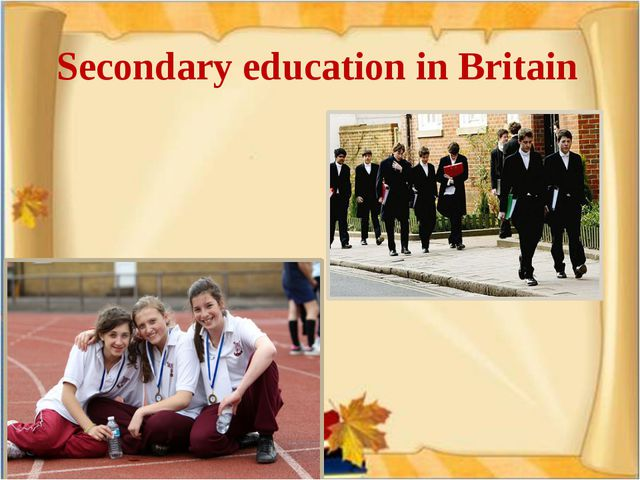 Secondary education in Britain
