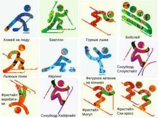 Хоккей на люду Биатлон Горные лыжи Бобслей Лыжные гонки Кёрлинг Фигурное кат