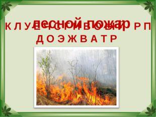 К Л У Е Ч С Г Н В О Ы Й Р П Д О Э Ж В А Т Р лесной пожар