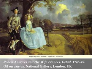 Robert Andrews and His Wife Frances. Detail. 1748-49. Oil on canvas. National