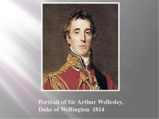 Portrait of Sir Arthur Wellesley, Duke of Wellington 1814