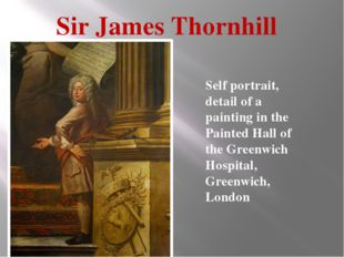 Sir James Thornhill Self portrait, detail of a painting in the Painted Hall o