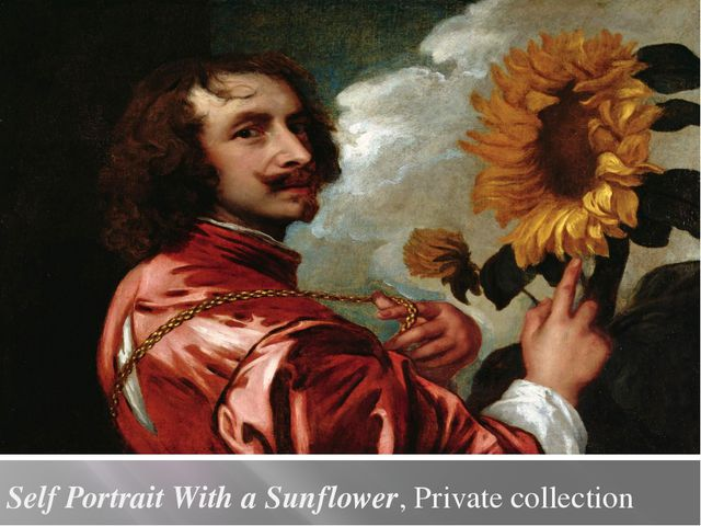 Self Portrait With a Sunflower, Private collection