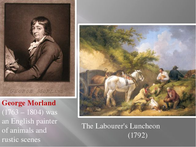 George Morland (1763 – 1804) was an English painter of animals and rustic sc...