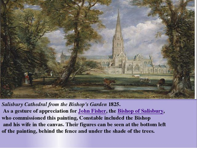 Salisbury Cathedral from the Bishop's Garden 1825. As a gesture of appreciati...
