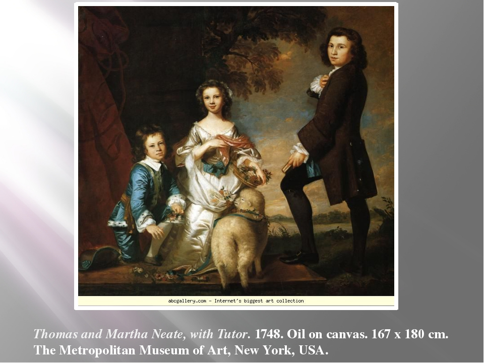 Thomas and Martha Neate, with Tutor. 1748. Oil on canvas. 167 x 180 cm. The M...