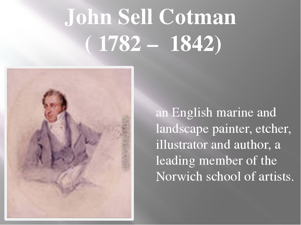 an English marine and landscape painter, etcher, illustrator and author, a le...