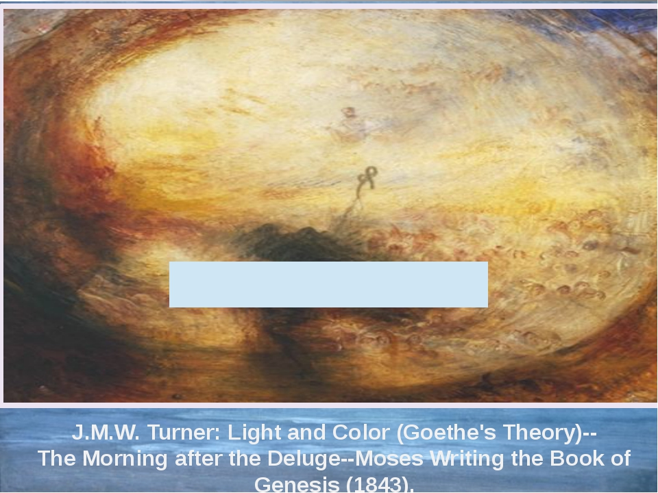 J.M.W. Turner: Light and Color (Goethe's Theory)-- The Morning after the Delu...