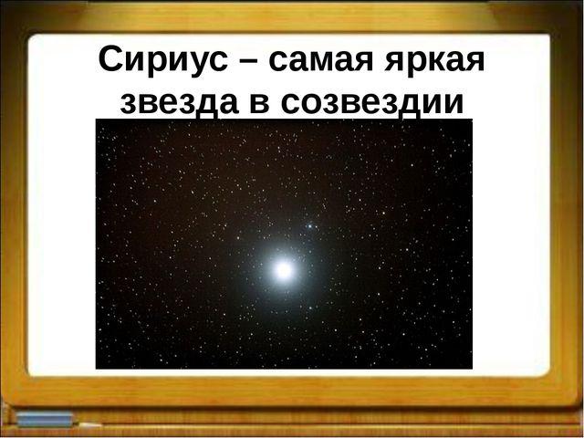 Сириус – самая яркая звезда в созвездии Большого Пса
