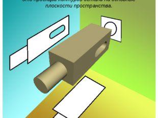 Изображения детали на чертеже — это проекции контуров детали на основные плос