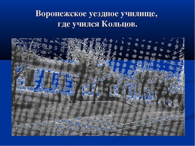 Воронежское уездное училище, где учился Кольцов.