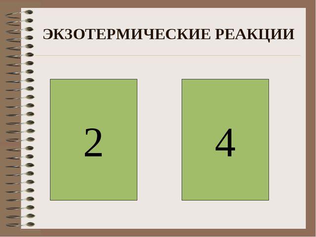 ЭКЗОТЕРМИЧЕСКИЕ РЕАКЦИИ 2 4