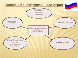 Основы Конституционного строя Конституционные принципы Демократическое Челов