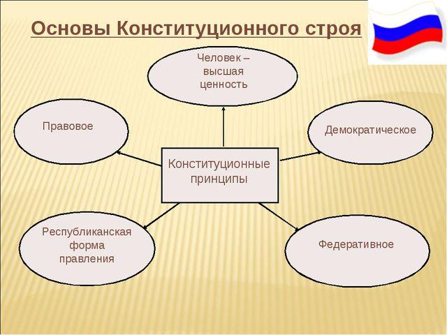 Основы Конституционного строя Конституционные принципы Демократическое Челов...