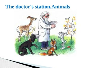 The doctor's station.Animals