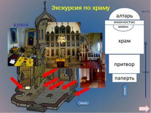 купол Экскурсия по храму восток запад