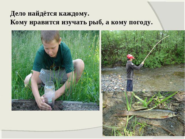 Дело найдётся каждому. Кому нравится изучать рыб, а кому погоду.