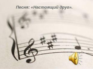 Песня: «Настоящий друг».