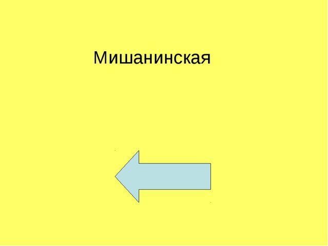 Мишанинская
