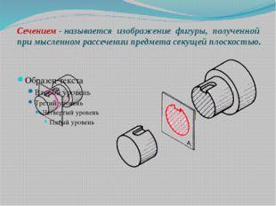 Сечением - называется изображение фигуры, полученной при мысленном рассечени