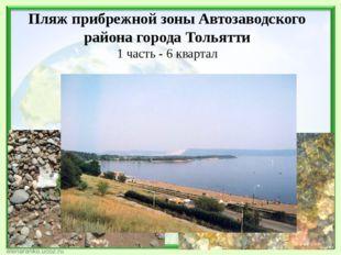 Пляж прибрежной зоны Автозаводского района города Тольятти 1 часть - 6 квартал