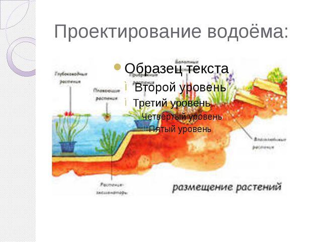 Проектирование водоёма: