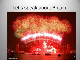 Let's speak about Britain: