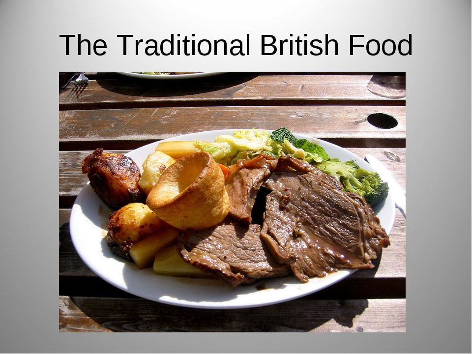 The Traditional British Food