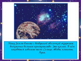 Нашу Землю вместе с воздушной оболочкой окружает бесконечно большое пространс