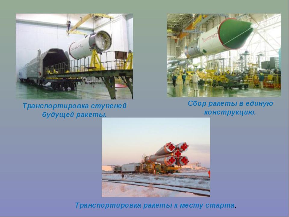 Транспортировка ступеней будущей ракеты. Сбор ракеты в единую конструкцию. Тр...