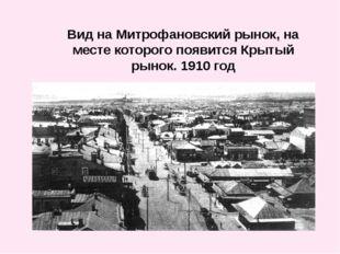 Вид на Митрофановский рынок, на месте которого появится Крытый рынок. 1910 год