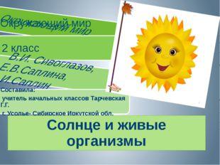 Солнце и живые организмы Солнце и живые организмы