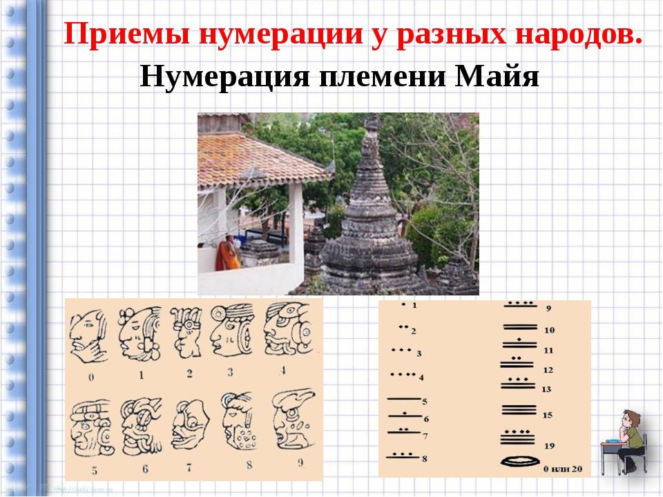 Приемы нумерации у разных народов. Нумерация племени Майя
