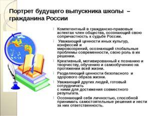 Портрет будущего выпускника школы – гражданина России Компетентный в гражданс