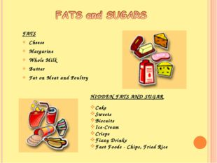 FATS Cheese Margarine Whole Milk Butter Fat on Meat and Poultry HIDDEN FATS A
