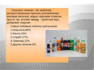 Соцопрос показал, что наиболее распространенные причины употребления: реклам
