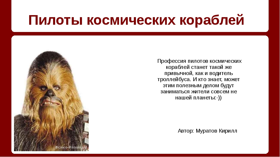 Пилоты космических кораблей Автор: Муратов Кирилл Профессия пилотов космичес...