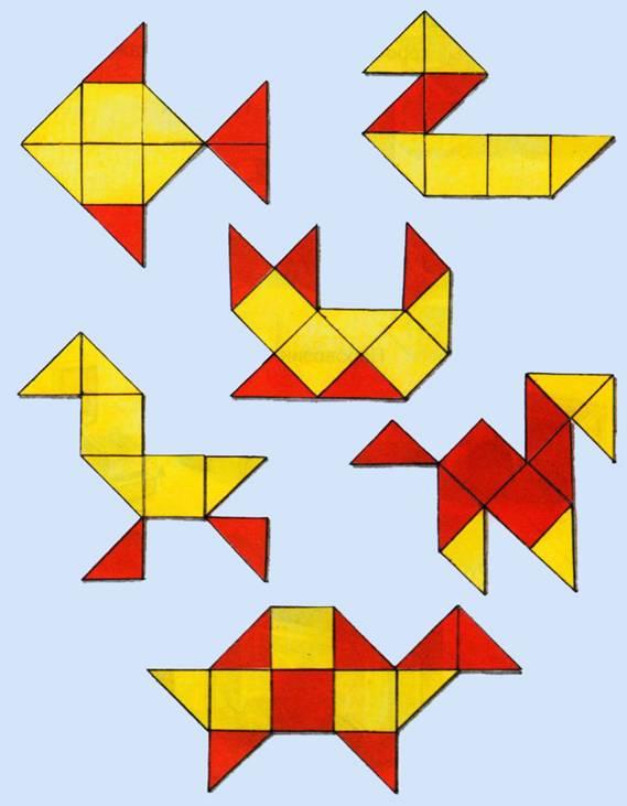 урок аппликация из геометрических фигур