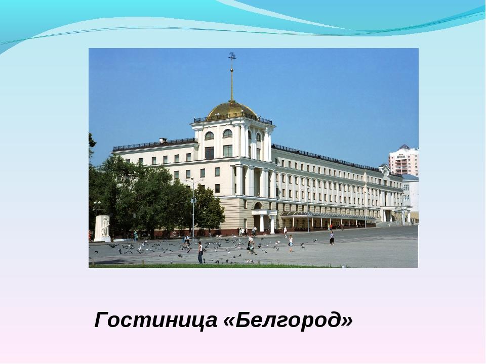 Гостиница «Белгород» Библиотека МОУ-СОШ № 7