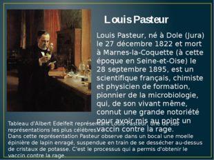 Louis Pasteur Tableau d'Albert Edelfelt représentant Louis Pasteur, une de se
