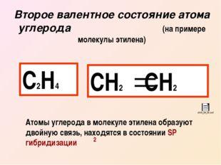 Второе валентное состояние атома углерода (на примере молекулы этилена) С2Н4