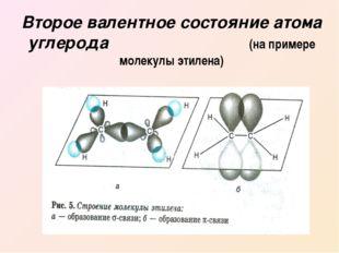 Второе валентное состояние атома углерода (на примере молекулы этилена)