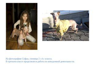 На фотографии Софья, ученица 2 «А» класса. В третьем классе продолжится работ