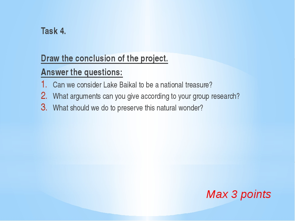 Task 4. Draw the conclusion of the project. Answer the questions: Can we cons...